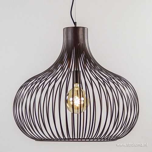 Brons bruine hanglamp draad groot 60 cm