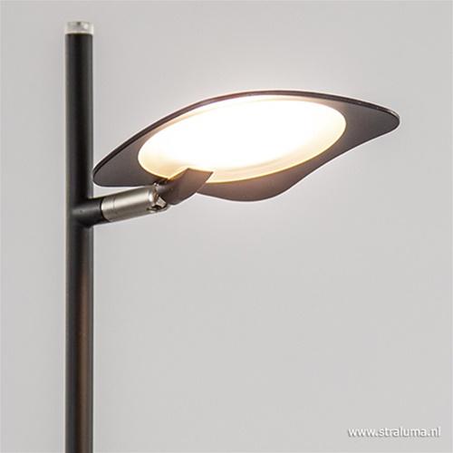Zwarte LED vloerlamp modern dimbaar
