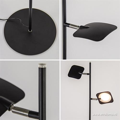 Leeslamp Raggio 2L zwart 3-step dim