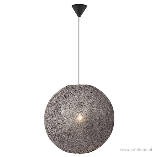 Sfeervolle hanglamp Abaca grijs 60 cm.