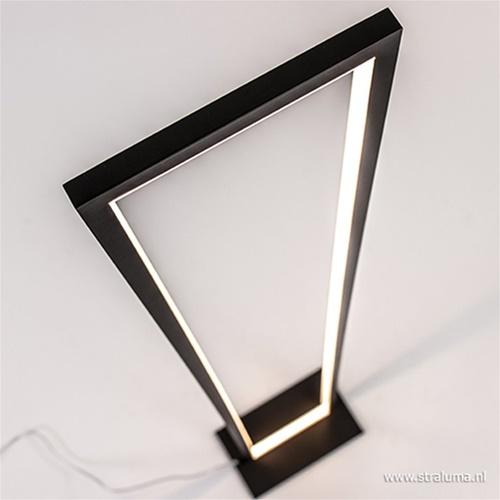 Moderne vloerlamp zwart dimbaar
