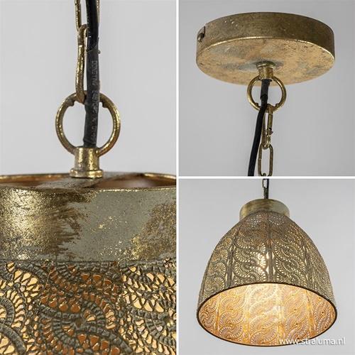 Metalen hanglamp oriental antiek messing