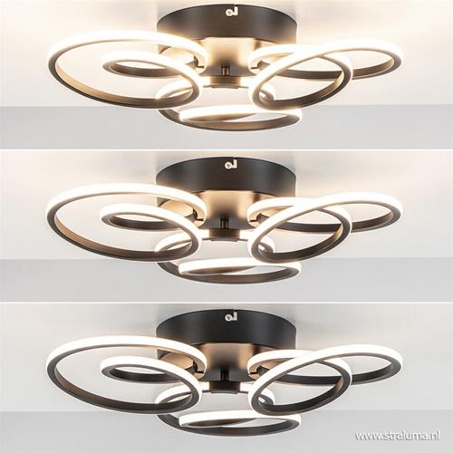 Moderne plafondlamp ringen inclusief dimbaar LED