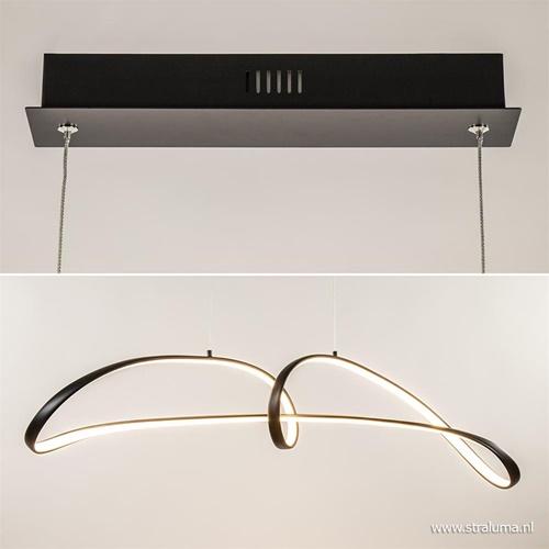 Moderne LED hanglamp dimbaar in 3 stappen zwart