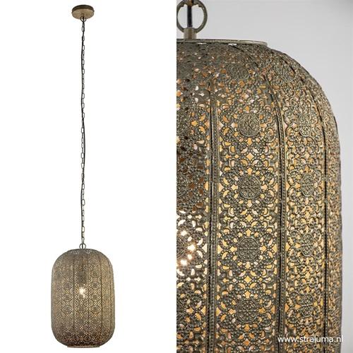 Oosterse hanglamp lantaarn antiek messing