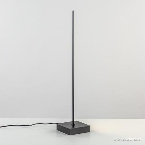 Tafellamp pin zwart incl. dimmer