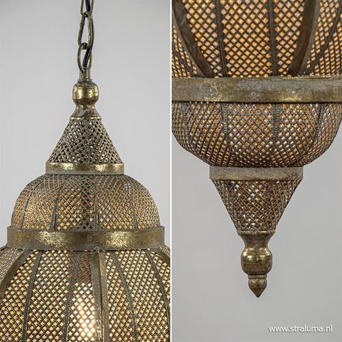Oosterse hanglamp lantaarn antiek goud