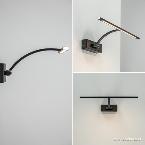 Schilderijlamp Matisse zwart 34cm
