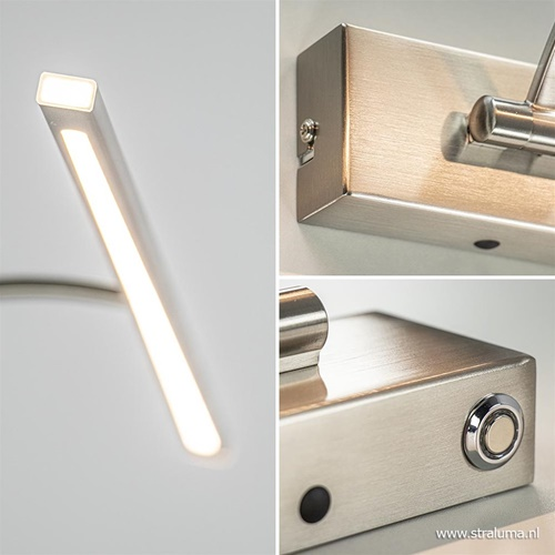 Moderne LED schilderijverlichting nikkel dimbaar