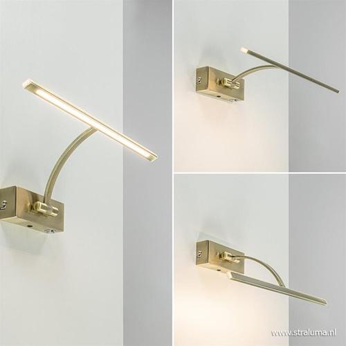 Strak klassieke wandlamp brons dimbaar LED