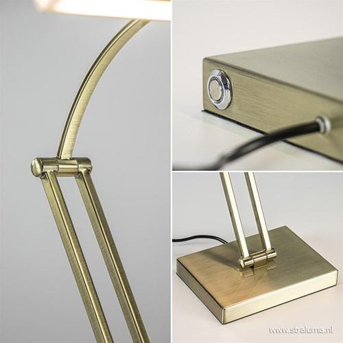 Dimbare LED bureaulamp brons verstelbaar