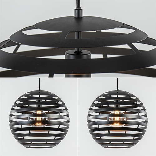 **Hanglamp bol zwart 40cm