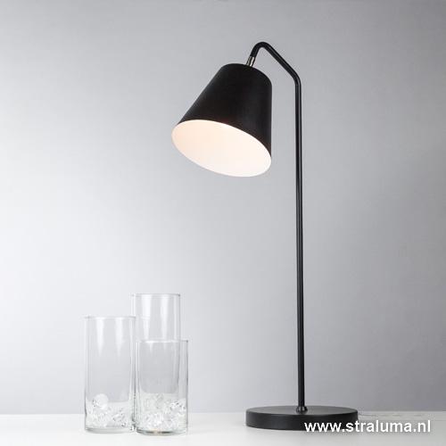zwarte tafellamp leeslamp nachtkastje straluma
