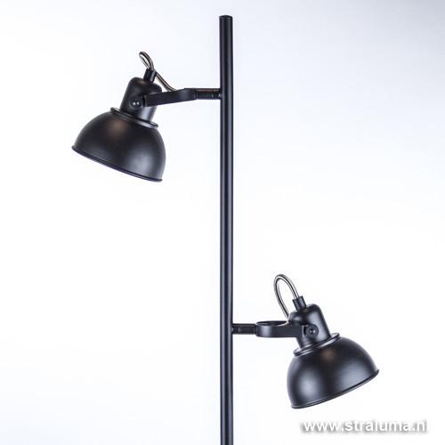Industriele vloerlamp zwart led straluma for Industriele vloerlamp