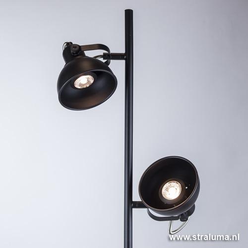 Industriele vloerlamp zwart led straluma for Industriele schemerlamp