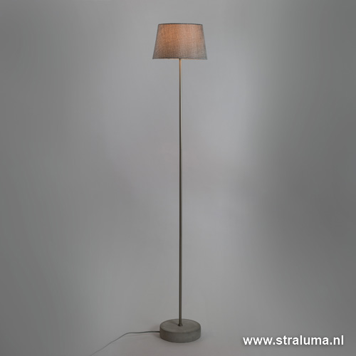 Trendy vloerlamp betonvoet grijze kap straluma - Kleine kap ...