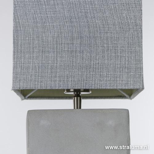 Zeer Vierkante schemerlamp met beton voet | Straluma &RQ15