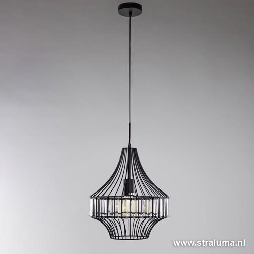 Strak klassieke hangl met kristallen straluma for Klassieke hanglamp