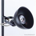 Industriele vloerlamp zwart LED