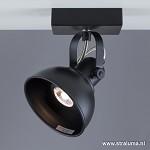 Zwarte plafondspot LED industrie hal-wc
