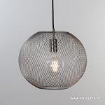 *Kleine gaas hanglamp bol mat staal