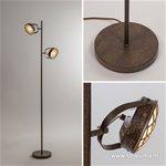 Roestbruine LED vloerlamp incl. dimmer