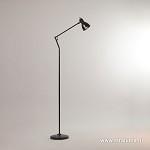 Eenvoudige LED vloerlamp-leeslamp zwart