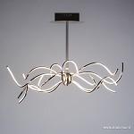 **Design eettafel hanglamp LED staal