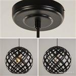 Hanglamp bol zwart open frame groot 50cm