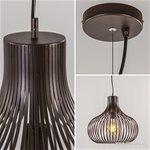 Landelijke draadlamp-hanglamp bruin 48cm