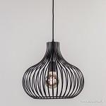 Moderne draad hanglamp zwart 38 cm