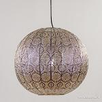 Grote hanglamp oriental oud zilver