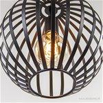 Moderne hanglamp bol zwart metaal 30cm