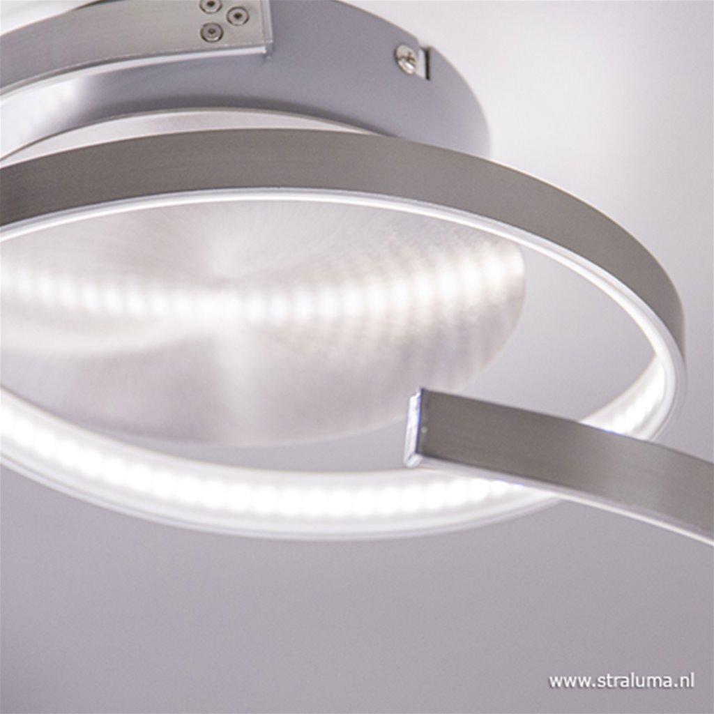 Plafondlamp spiraal nikkel LED