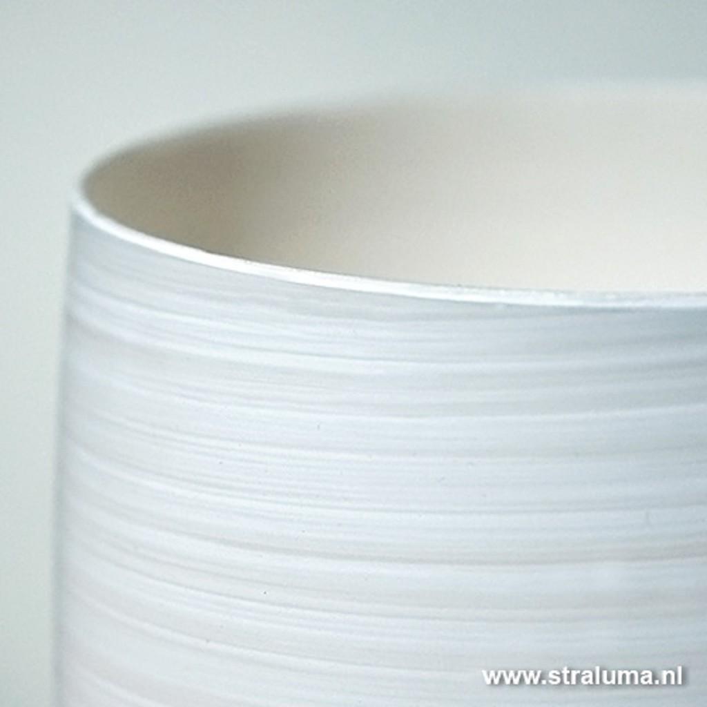 Glazen vaas tafellamp Valenso wit