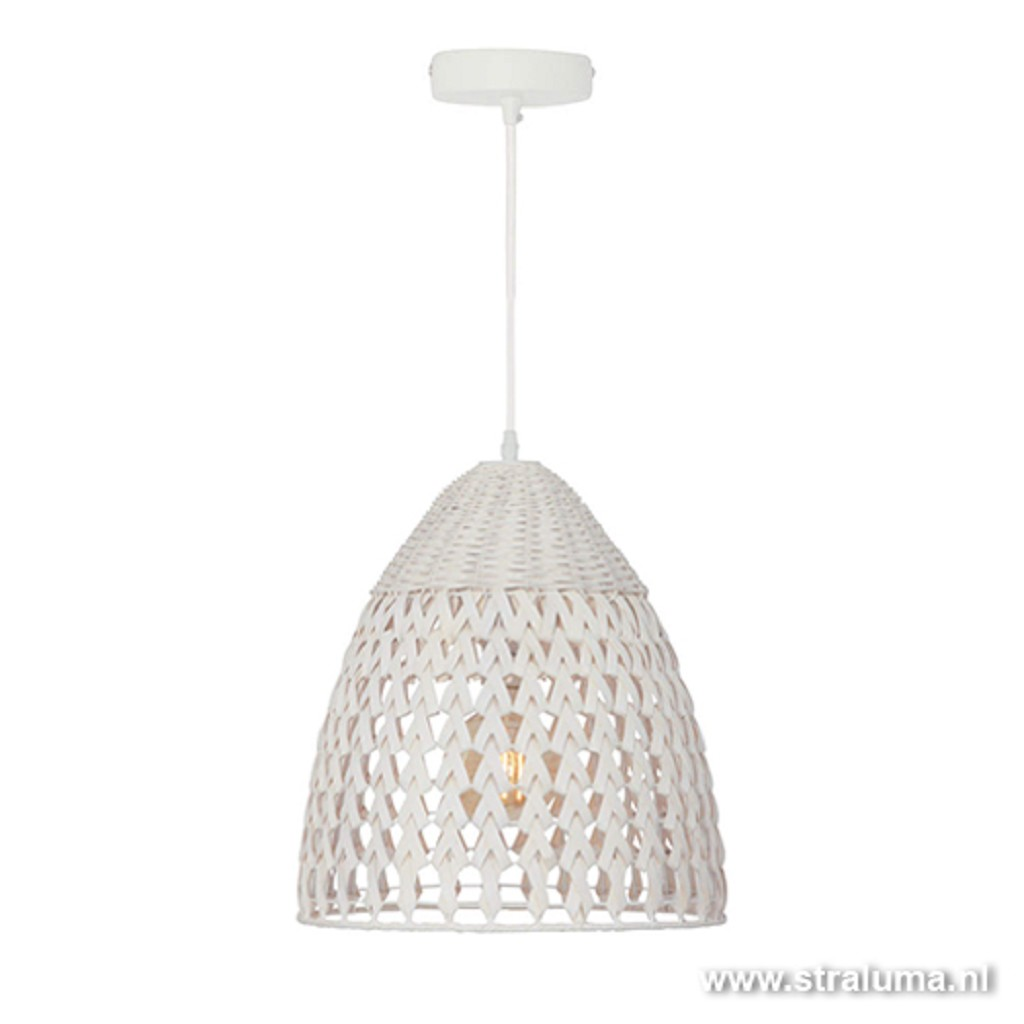 *Witte hanglamp Tovano tienerkamer