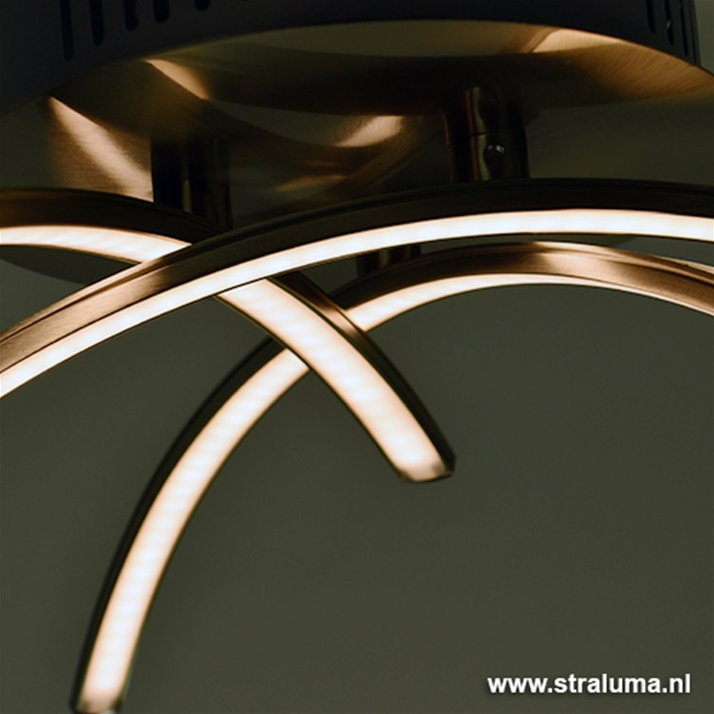 Plafondlamp Casca nikkel LED