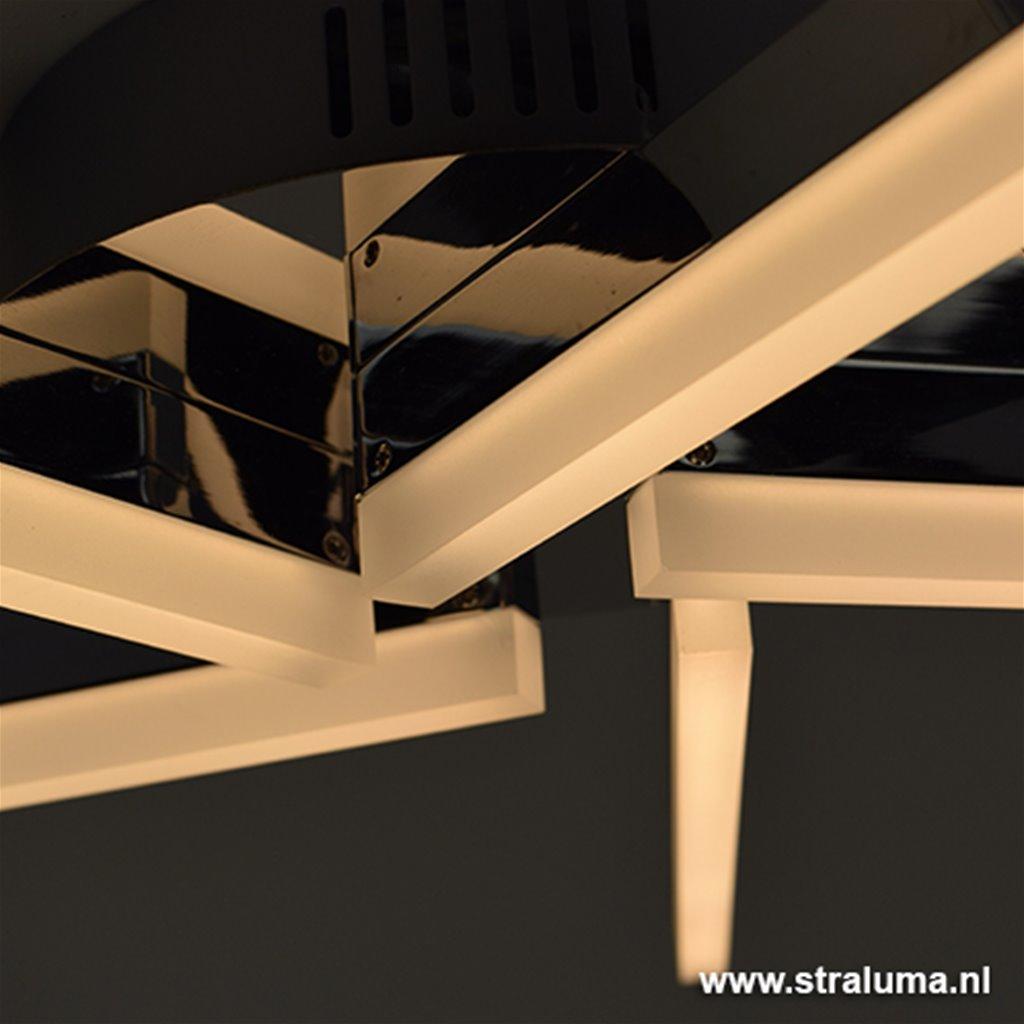 LED plafonnière Sopra chroom woonkamer