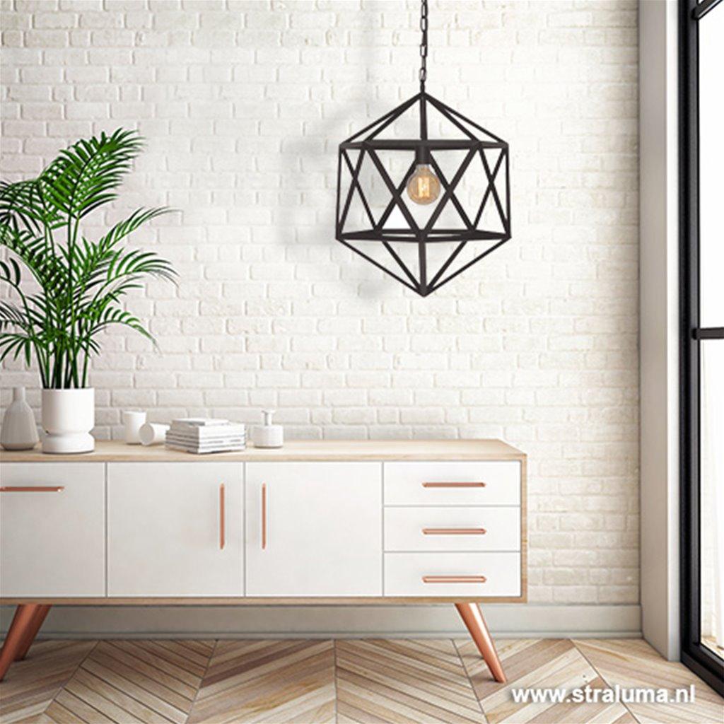 Cubo hanglamp zwart 55 cm doorsnede