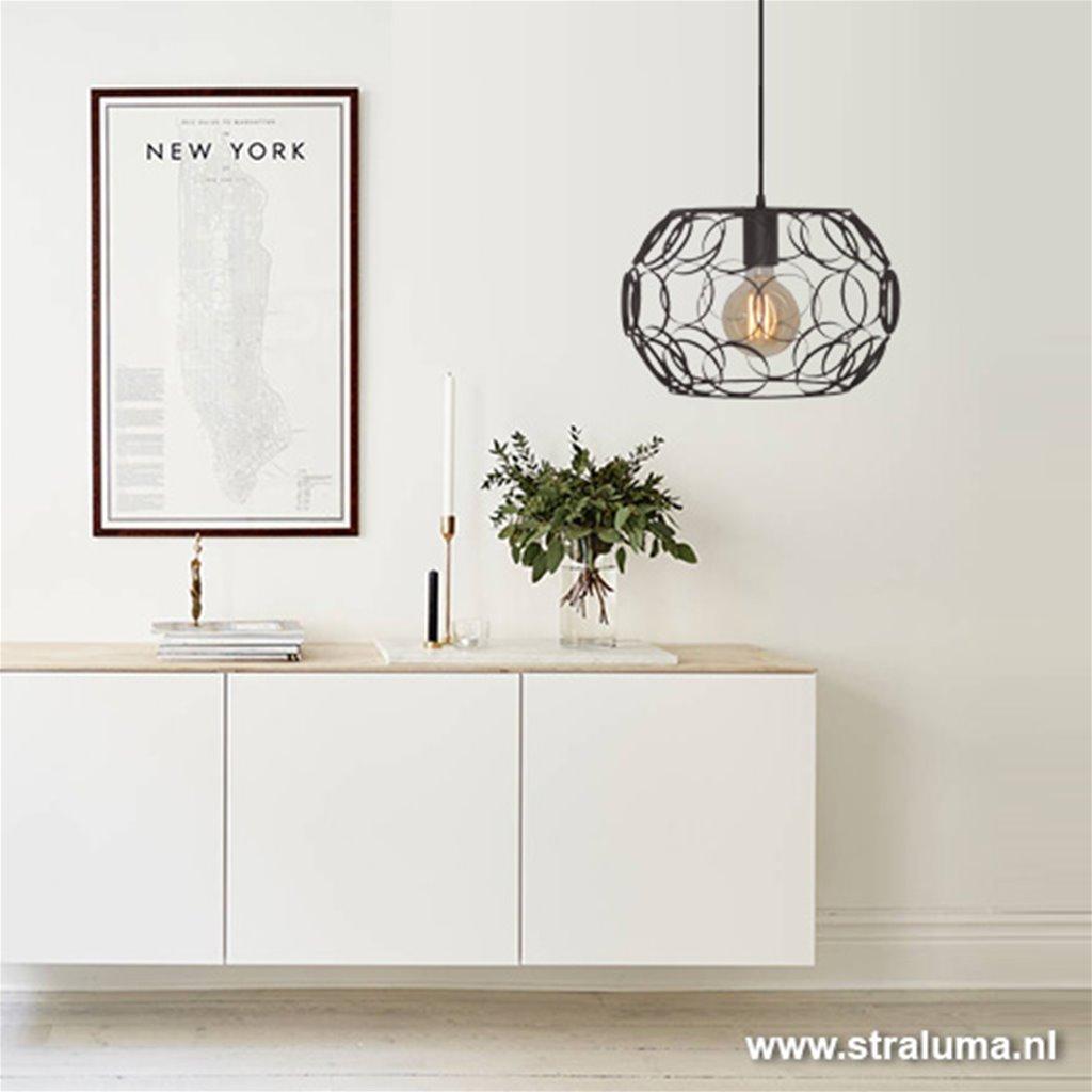 *Zwarte hanglamp scandinavisch cirkels