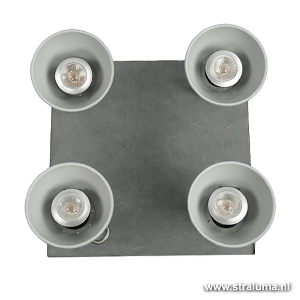 Vierkante plafondspot industrie beton