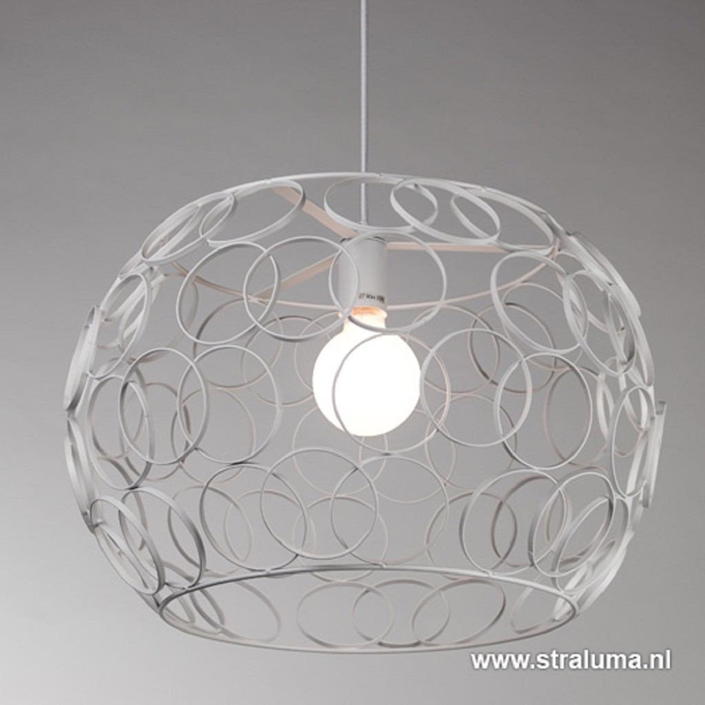 *Witte hanglamp met open ringen groot