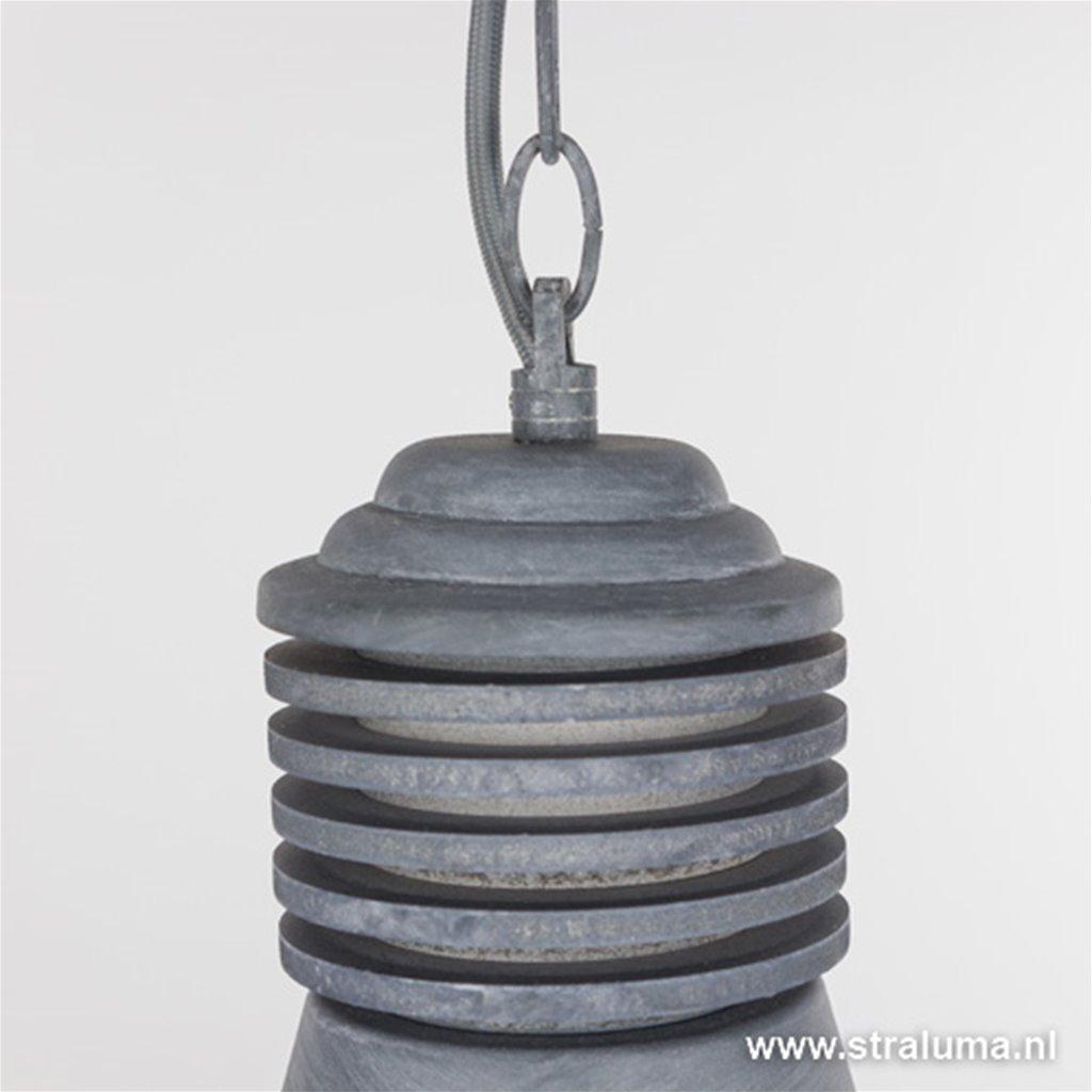 **Industriële betonlook hanglamp rooster