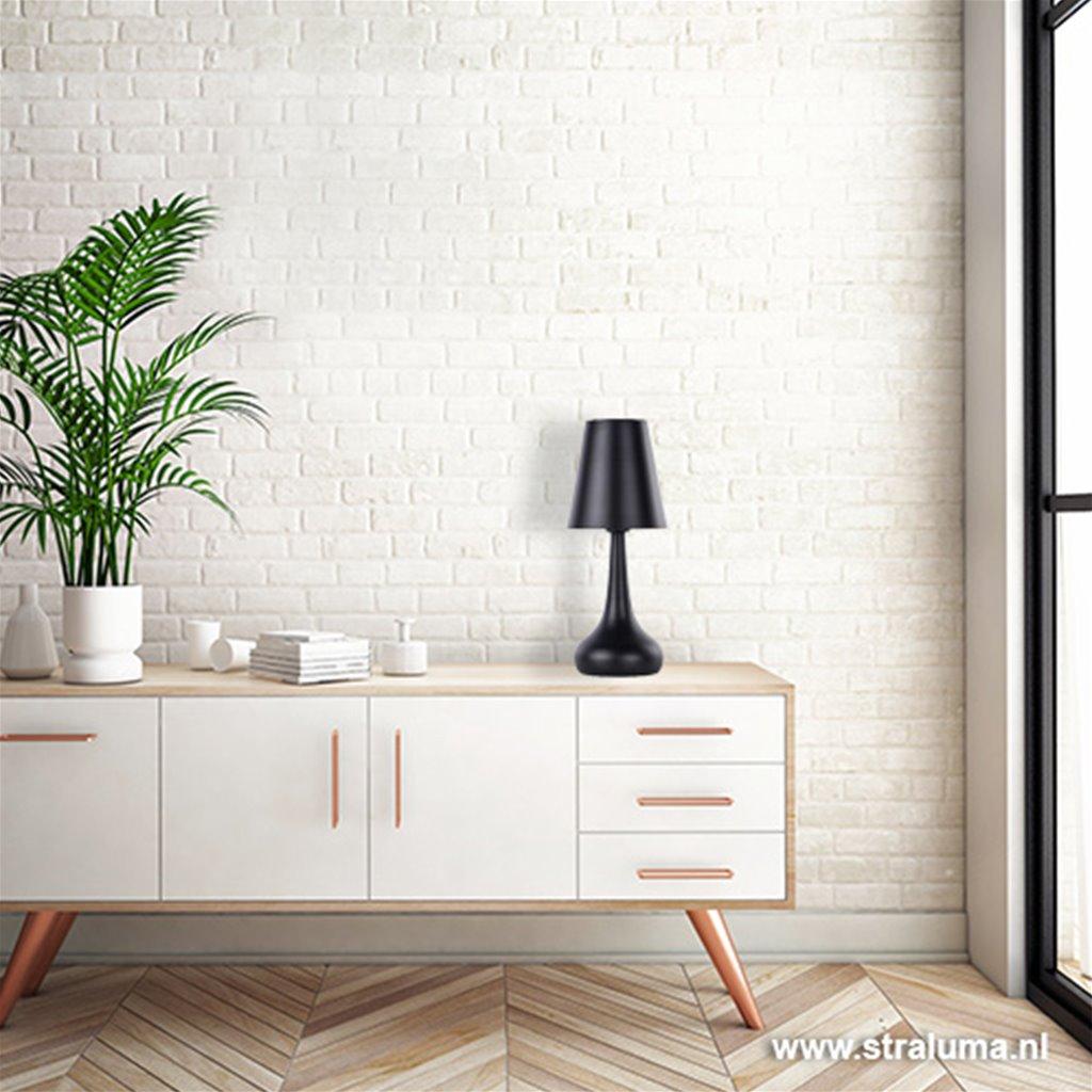 *Zwarte moderne tafellamp slaapkamer