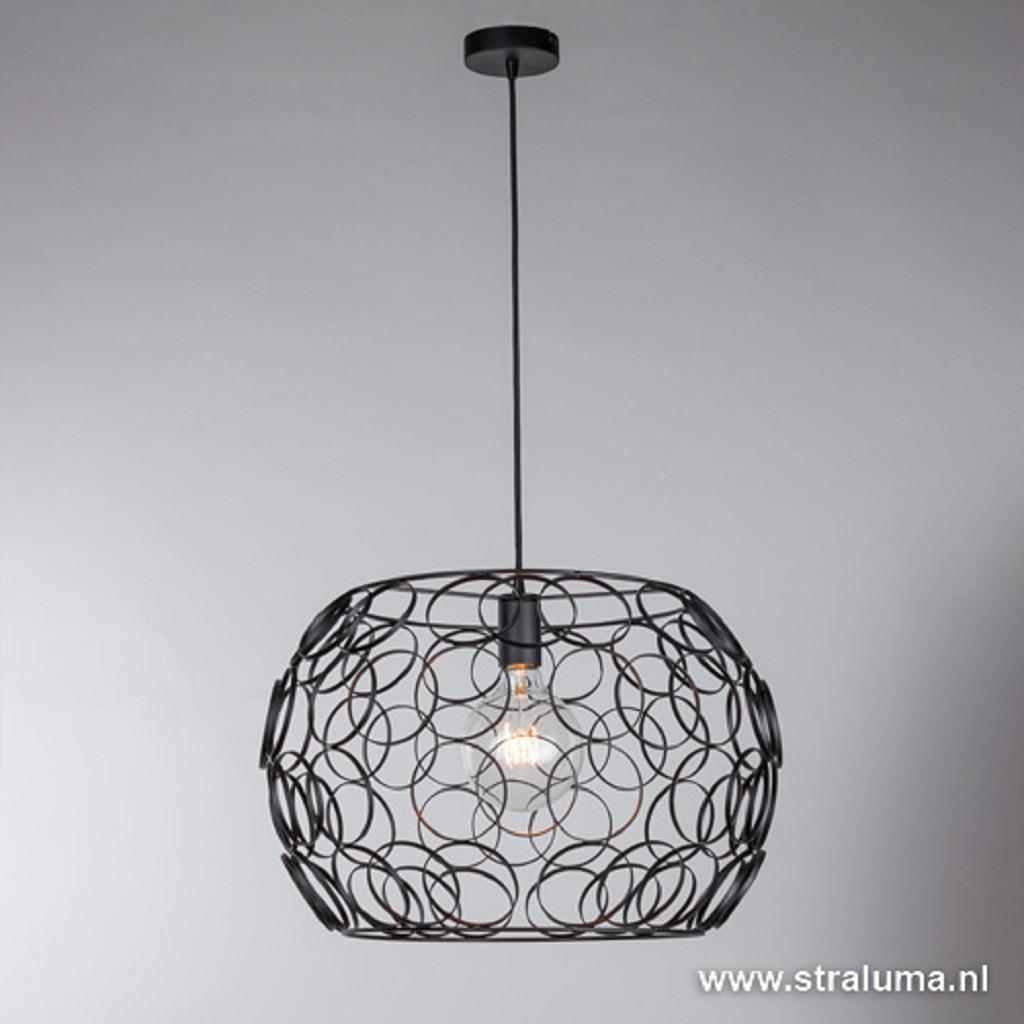 *Zwarte hanglamp ringen groot