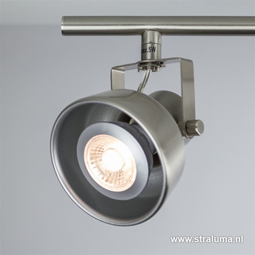 *Spot nikkel 4-lichts landelijk incl.led