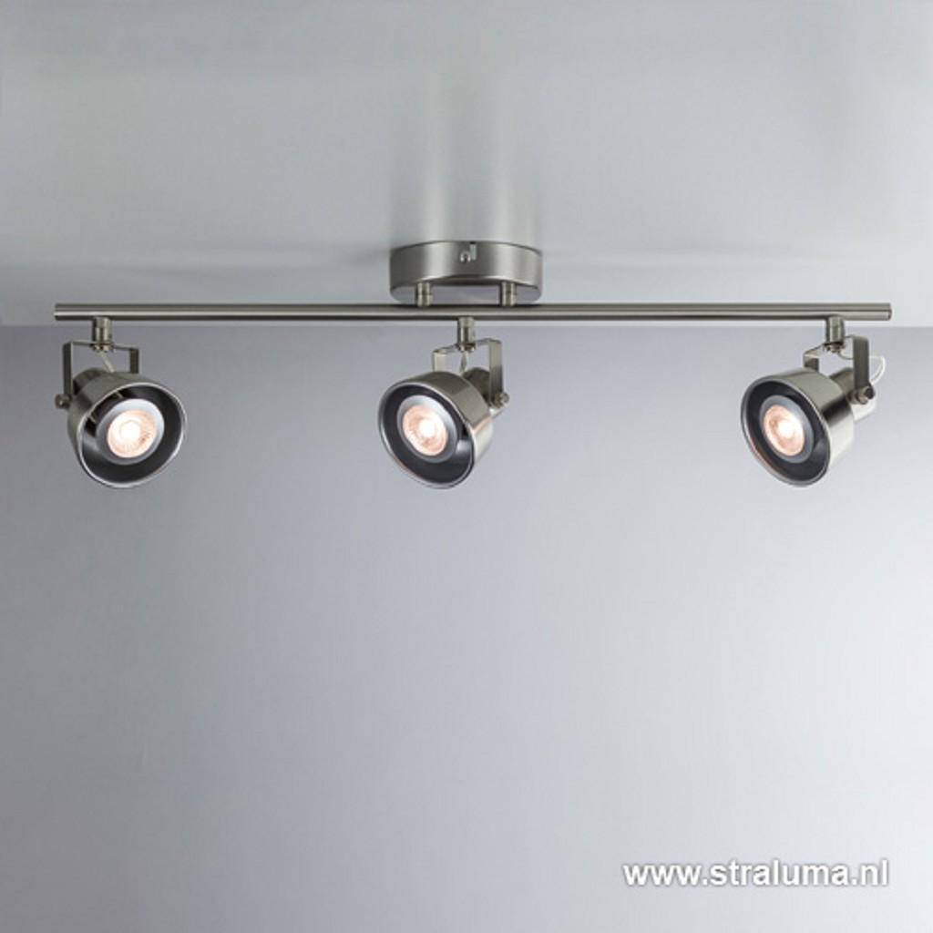 Spot nikkel 3-lichts landelijk incl.led