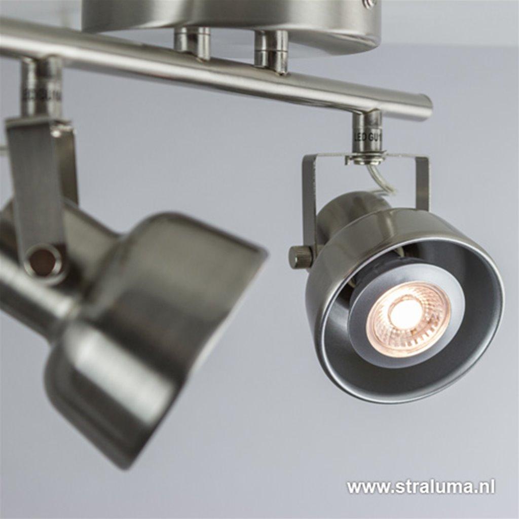 *Spot nikkel 2-lichts landelijk incl.led