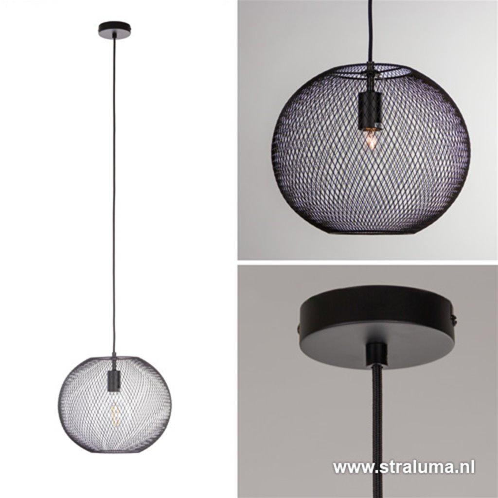 Gaas hanglamp zwart small