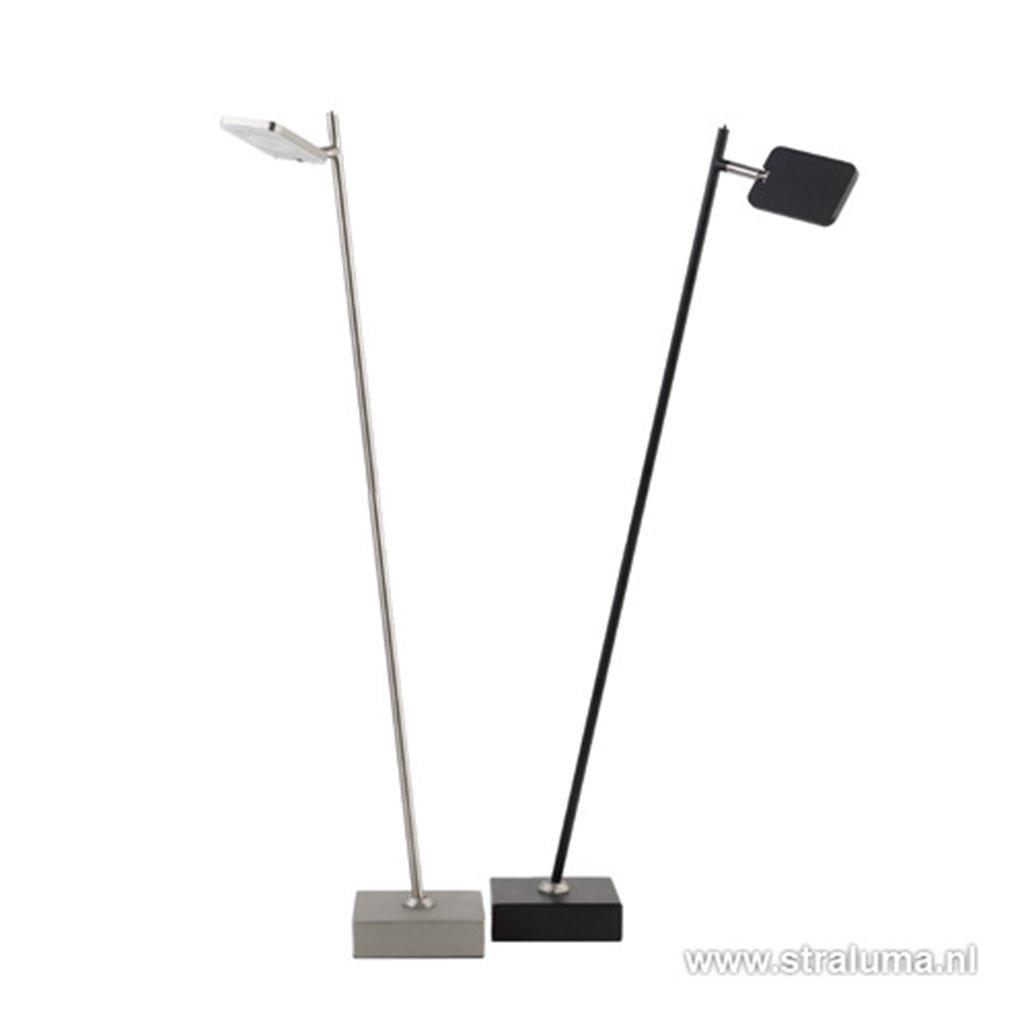 Staande leeslamp led zwart incl.dimmer